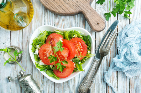 Fresh tomato with spice, vegetarian salad, salad with fresh tomato and spice Stockfoto