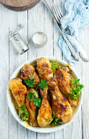 fried chicken legs, chicken legs with salt and spice, baked chicken legs