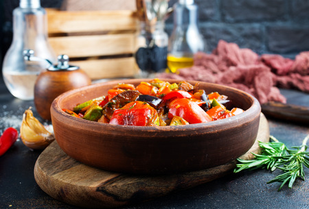 baked vegetables in bowl on a table
