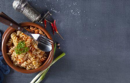 pasta with tomato sauce and aroma spice 版權商用圖片