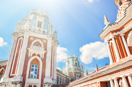 Big Grand Palace of Museum-reserve Tsaritsyno, Moscow, Russia