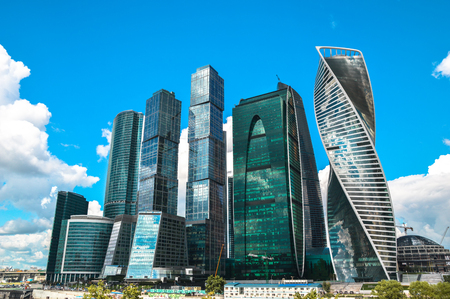 Moscow International Business Center Moscow City Stock Photo