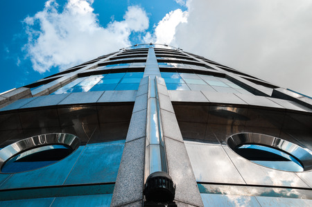 Modern office building perspective view Stock Photo