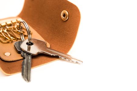Key wallet isolated on white background