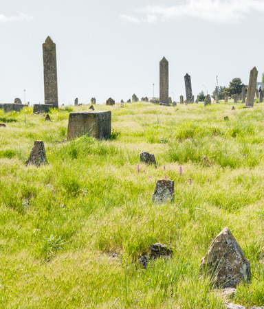 Ancient cemetery - graves of ancient burials Stock Photo