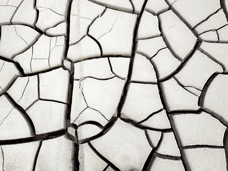 Dried cracked land, global warming, drought. Background image