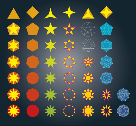 Star Polygons Vector