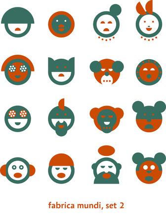 mundi: Fabrica mundi 2  Set of very simple signs depicting various pop-culture heads