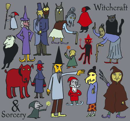 Witchcraft  Yes  15 specialists suitable for any annual report   Or Halloween report, at least    Vector