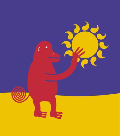 stola: Die Ape Wer stahl die Sonne Illustration