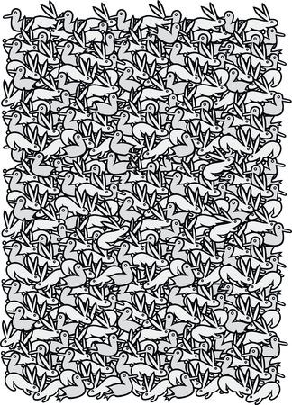 escher: Springtime pattern - black and white