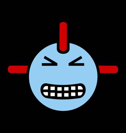 robot head: Evil robot head