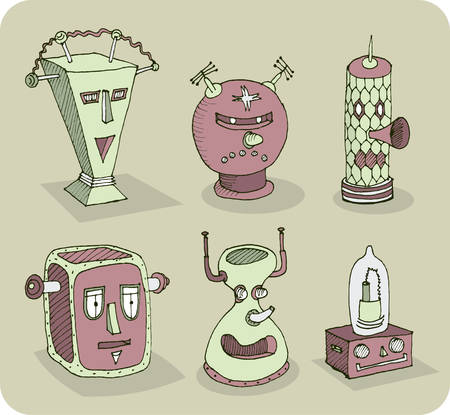 shaky: More old-school robot heads