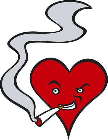 impudent: Heart smoking a cigarette