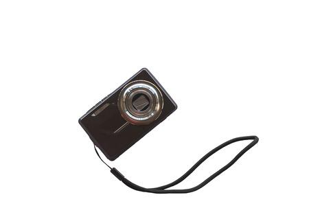 compact digital photo camera isolate white background