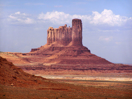 The Big Chief Butte in Monument Valley in northern Arizona.