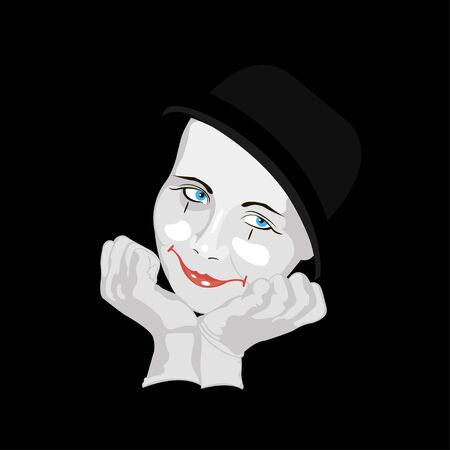mime: Abstract illustration of a smiling mime Illustration