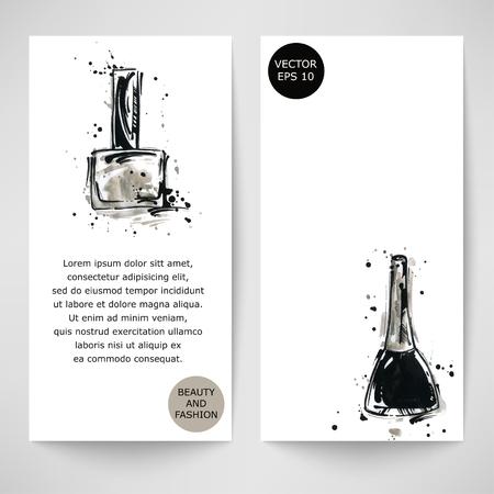 Vector banner met nagellak. Beauty en Fashion