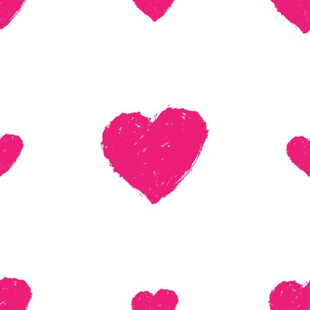 Vector abstract seamless pattern with hearts. Love. Trendy background for your design fabric, wallpaper, t-shirts.