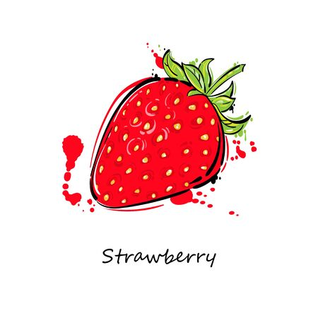 cloves: Vector illustration of a strawberry. Isolate on white background.