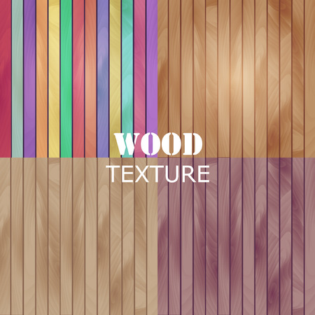 abstract wood texture. vector background. Vertical bright light strips for your design. Set 向量圖像