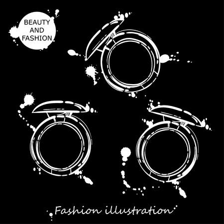 gloss: Vector abstract illustration with eyeshadow. Fashion illustration.