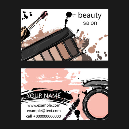 gloss:  Vector abstract background with nail polish. Business card of beauty salon. Fashion illustration.
