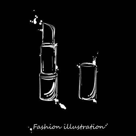 Vector abstract illustration of lipstick. Fashion illustration. Imagens - 96618974