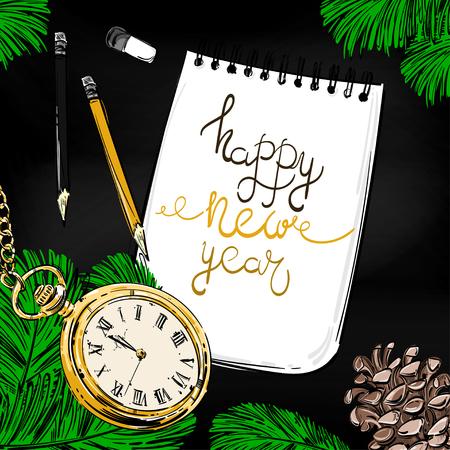 Happy new year design Imagens - 109709142