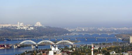 bridges across the river Dnipro. Kyiv. Ukraine Stock Photo - 2553853