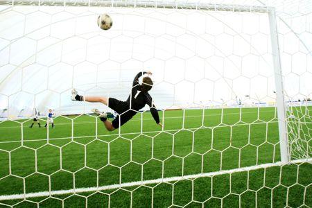 goal keeper: Voetbalwedstrijd