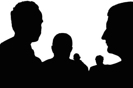 silhouette of an unknown, incognito persons Stock Photo - 3901139