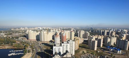 erect: Kharkovsky district, Kiev, Ukraine Stock Photo