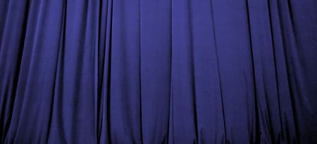 closed club: Beautiful blue stage curtain with soft focus