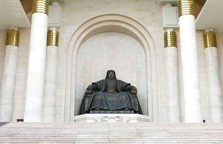 khan: statue of Genghis Khan. Ulan Bator , Mongolia