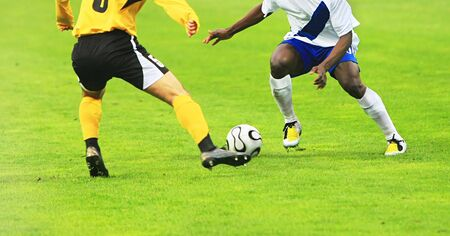 details of a soccer match with two players in action Stock Photo - 4553705