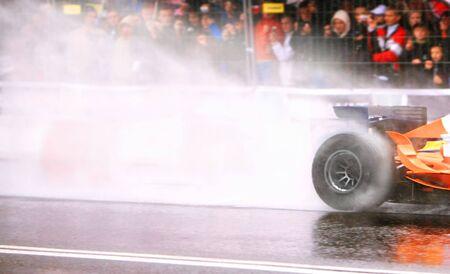 Formula One Car Wheelspin photo