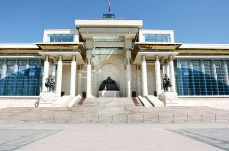 Ulan Bator  Ulaanbaatar, Mongolia: in front of the Parliament building, Suhbaatar square