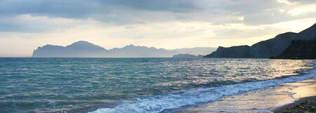 view on Karadag mountain in the sunet. Crimea. Ukraine Stock Photo - 4927223