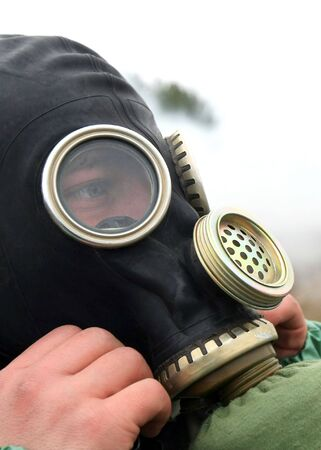 soldier dress gas mask Stock Photo - 5327626