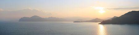 view on Karadag mountain in the sunet. Crimea. Ukraine Stock Photo - 5362539