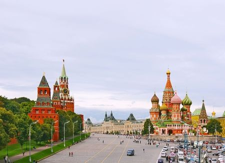 tourist destination:  Red Square in Moscow, Russian Federation. National Landmark. Tourist Destination.