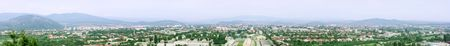 panoramic view of Mukachevo city. Ukkraine Stock Photo - 5362543