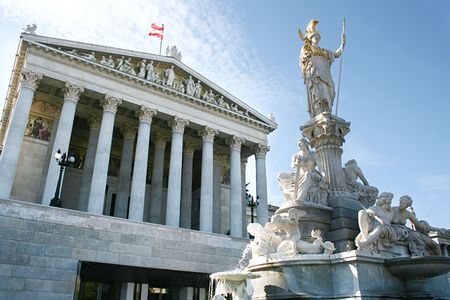 Austrian Parliament Building, Vienna, Austria photo