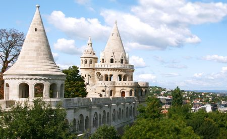 halaszbastya: Unesco World Heritage site Fishermans Bastion (Halaszbastya), Budapest , Hungary