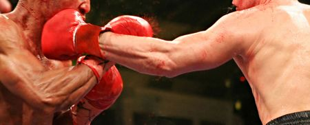 blood sport: Two boxers during the boxing match