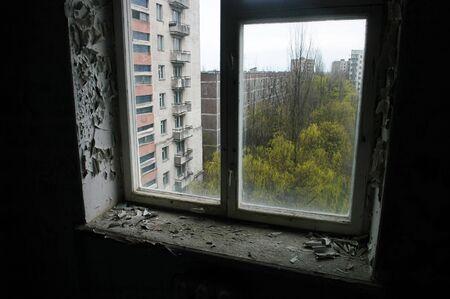 Chernobyl area. Lost city of Pripyat. Modern ruins. Ukraine, Kiev region Stock Photo - 5743014