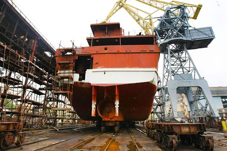shipper: Ocean vessel under repair process in dry dock