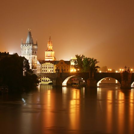 Prague at night. Czech Republic Stock Photo