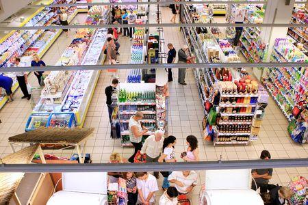 Kyiv, Ukraine, June 25, 2008-people in supermarket